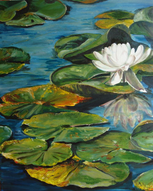 to paint a water lily ted hughes essay